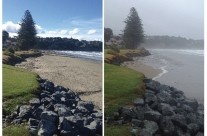 Orewa Beach, Cyclone Lusi, 15 March 2014