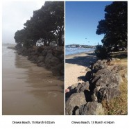 Orewa Beach, Cyclone Lusi 15032014