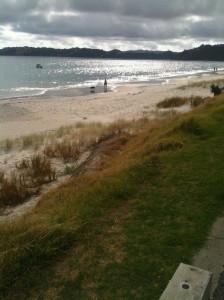 Onetangi Beach 9.54am