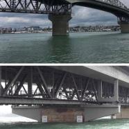 Auckland Harbour Bridge, King Tide 5.1.18