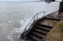 Saltburn Road Milford Beach, King Tide 16.11.16