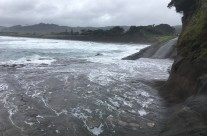 Muriwai Beach, King Tide 29.3.17