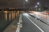 Tamaki Drive, King Tide 9:31PM 13 August 2014
