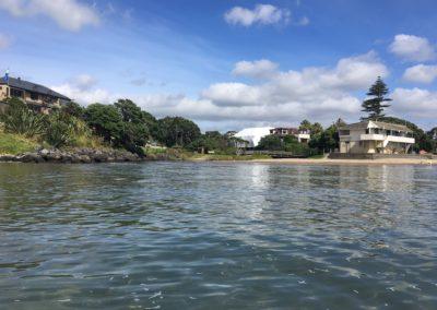 Mairangi Bay Stream inlet, King Tide 14.1.17