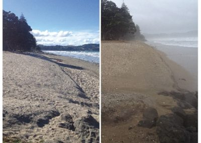 Orewa Beach, Cyclone Lusi 15032014