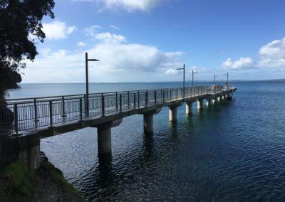 Murrays Bay Wharf, King Tide, 3.8.19