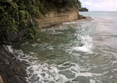 Mairangi Bay Beach North End, King Tide 17.11.16